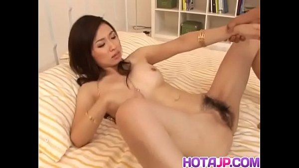 Maaya Kurihara Asian milf has pussy spread wide for close up before fucking - More at hotajp com