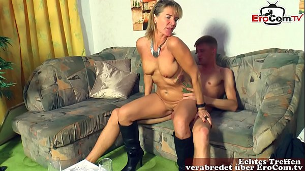 german mature housewife with saggy tits seduce younger guy