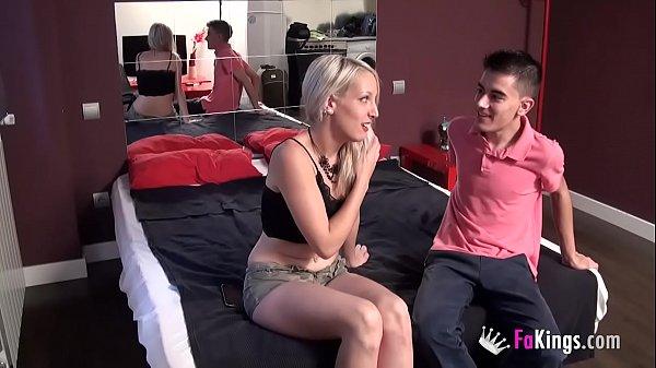Skinny blonde Liz Rainbow needs Jordi's big cock to complete her bucket list!!!!