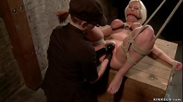 Bound big boobs blonde butt plugged Thumb