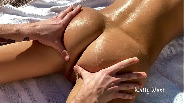 Oil Massage And Hot Sex On A Public Nude Beach With Creampie . Katty West with Falcon Al