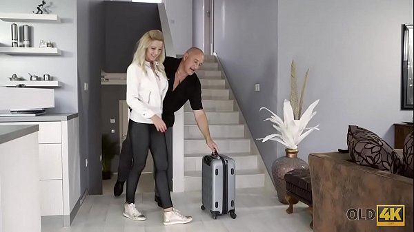 OLD4K. Bald daddy actively drills big-boobied mistress near stairs Thumb