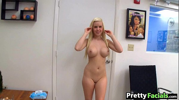 Amateur blonde first porno and facial Whitney T...