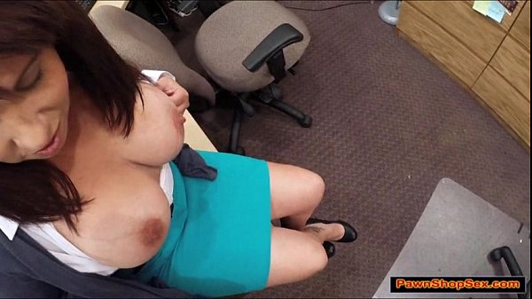 Busty brunette MILF sucks dicks and bangs for e...