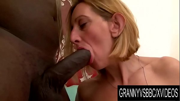 Granny Vs BBC - Older Blonde Lilou Ch Takes It up the Ass Thumb