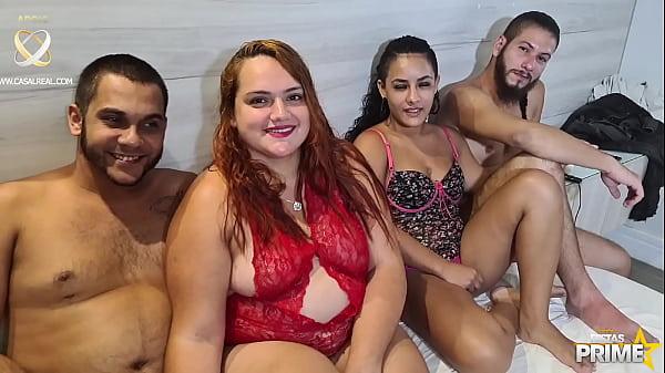 Troca de casal , Swing de verdade na Festaprime , Casal Tesao Insano , Dj Jump e Ruivinha Plus Size Completo no RED