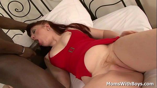 Mature Redhead Mom Esmeralda Pounded by Big Black Cock