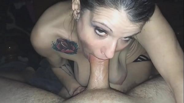 mature with saggy tits making a blowjob Thumb