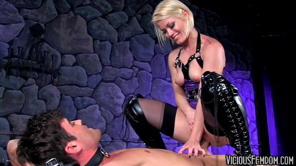 Ash Hollywood and Lance Hart FEMDOM CBT FUCKING CASTRATION Thumb
