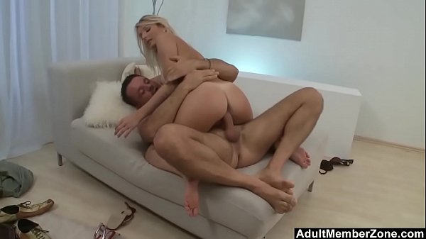 Hot Tanned Blonde Cant Take That Big Cock