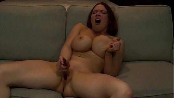 Big Titty Slut Fingers Her Cunt