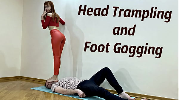 Bratty Teen Mistress In Leather Leggings - Fullweight Head Trampling, Deep Foot Gagging and Facesitting Humiliation (Preview) Thumb