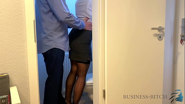 boss meets secretary on the office restroom - business-bitch Thumb