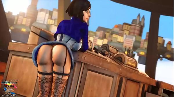 Elizabeth Bouncing Her Booty Thumb