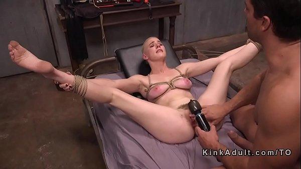 Short haired slave got bdsm training