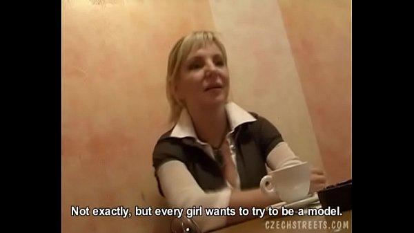 Blonde Girl Gets Model Job Offer in Restaurant