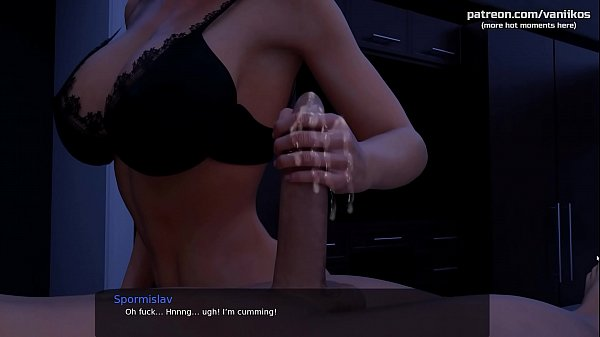 Handjob from a hot cheating mom with big tits while her husband is sleeping l My sexiest gameplay moments l Milfy City l Part #40