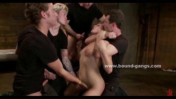 Slut forced to give brutal deepthroats