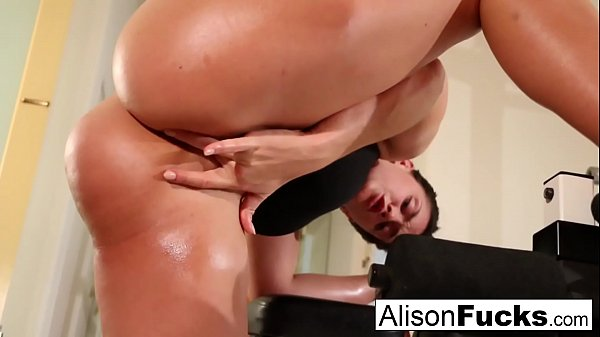 Alison Tyler works out nude