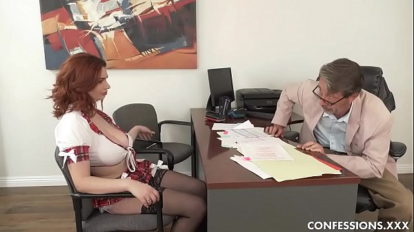 Busty Redhead Schoolgirl Pounded By Professor After Blowing His Big Cock Thumb