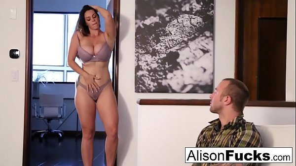 Alison Tyler drains Chad's cock with her mouth Thumb