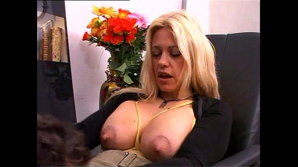 Secretary with Big natural titts banged