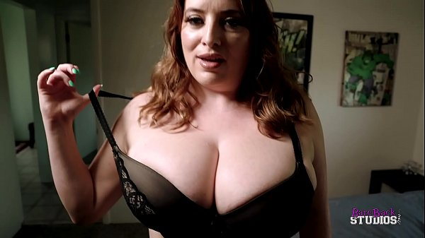Thick Step Mom with Huge Tits Catches Me Jerking Off - Maggie Green Thumb
