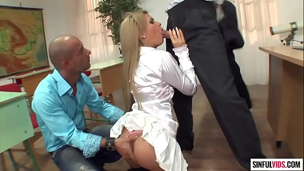 Ass fuck and double penetration in the classroom - Bibi Noel in Deep Anal Drilling 4 Scene 3 Thumb
