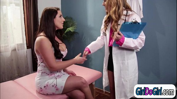 Breast doctor Carter Cruise sucks patient Angela Whites tits