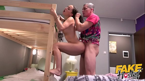 Fake Hostel - Sexy skinny girl has quivering multiple orgasms and squirts