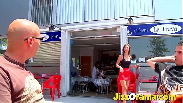 JizzOrama – Clients Lure Waitress To Make Porn