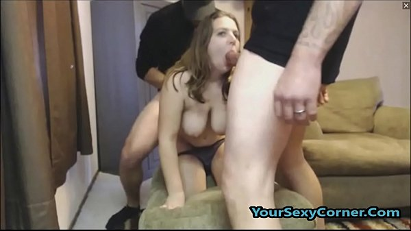 First Time Fucking Two Guys And She Is So Afraid! Thumb