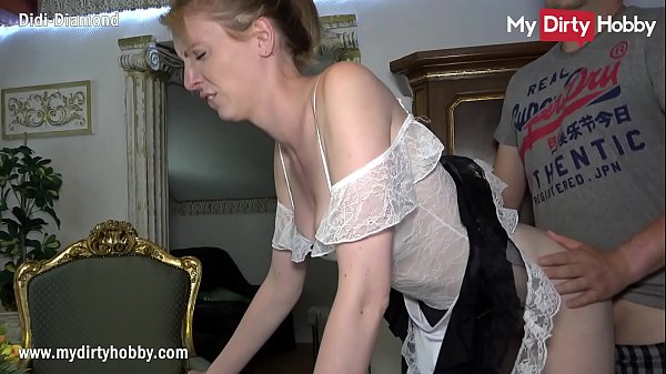 MyDirtyHobby - Housemaid swallows a cumshot from her boss while his wife is away