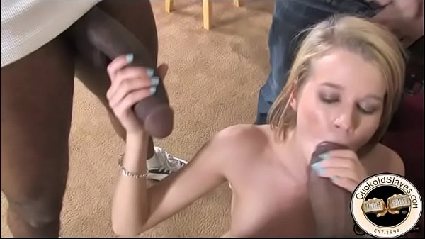 Black cock slut cheating on her boyfriend with 2 black cocks