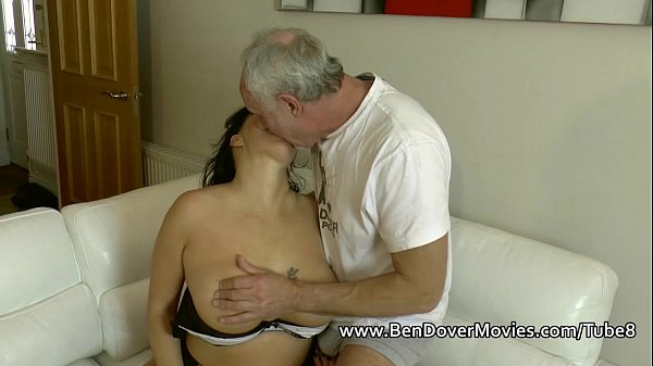 English milf gags on ben Dovers Cock Thumb