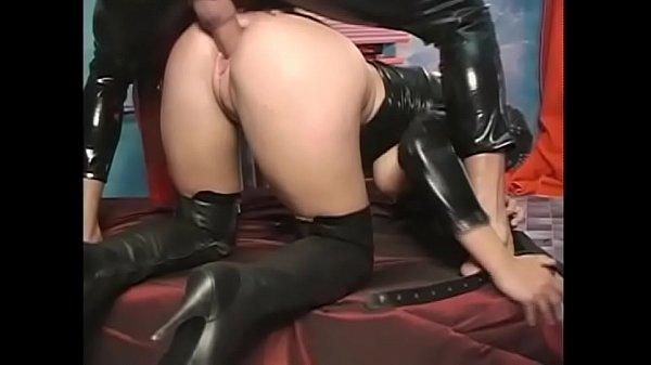 Stunning fetish slut brutally ass fucked