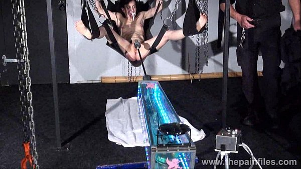 Fucking machine punishment of Elise Graves in hardcore bondage swing submission