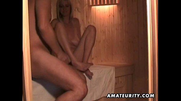 Amateur wife masturbates sucks and fucks with cum in mouth Thumb