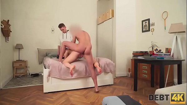 Debt4k. Babe Candy Kay spend too much money and now she needs to let collector fuck her