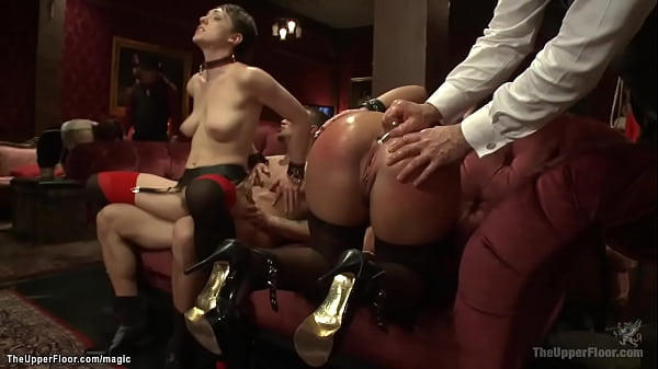 House slaves rough banged at party