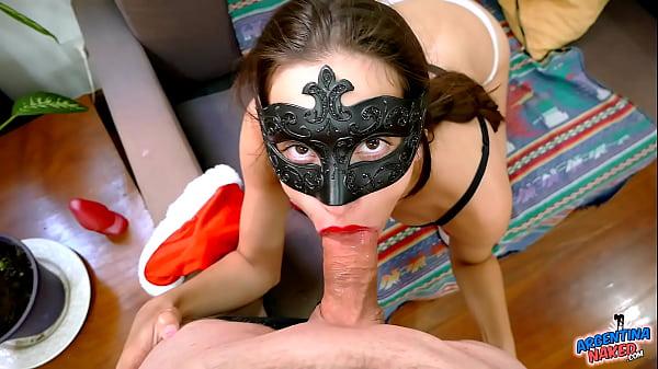 Most Beautiful Brunette Teen Sucking on Cock Li...