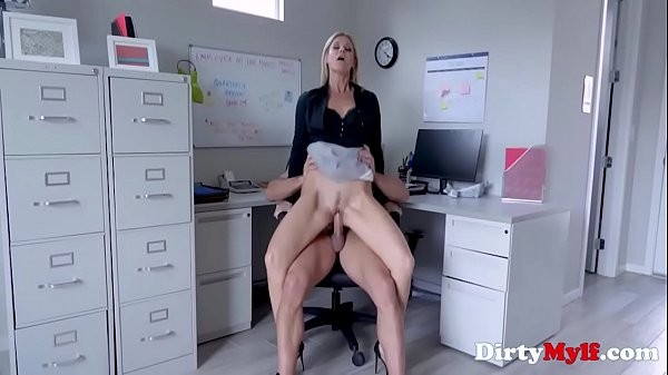 Office Sex With Blonde MILF Boss- India Summers Thumb