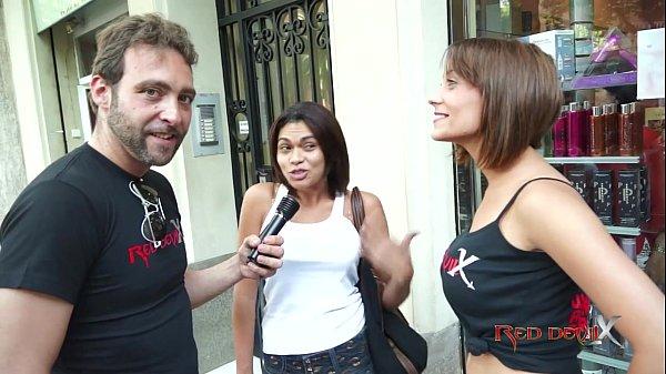 Brunnette threesome casting fuck blowjob - Sandra Red - Mar Durán Thumb