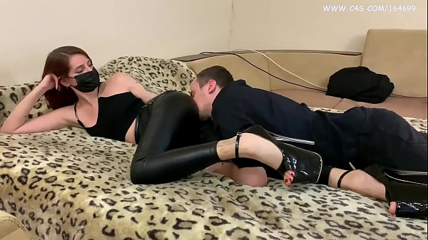 Strict Mistress Sofi in Leather Pants and High Heels Demands Ass Worship and Butt Kissing Femdom (Preview)