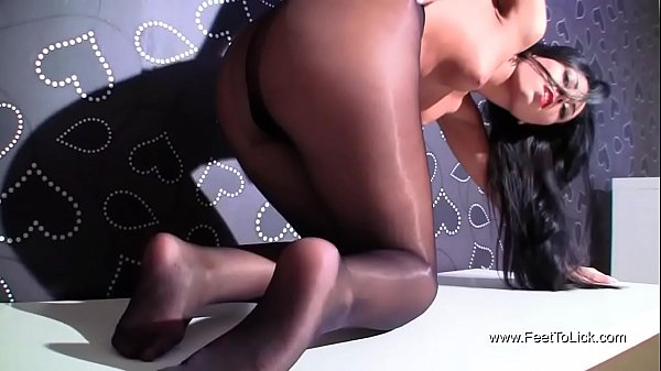 Pantyhose Foot Fetish Tease performed by Bailey Raider Thumb