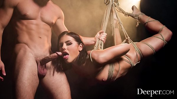 Deeper. Adriana Chechik gets tied, suspended and fucked hard