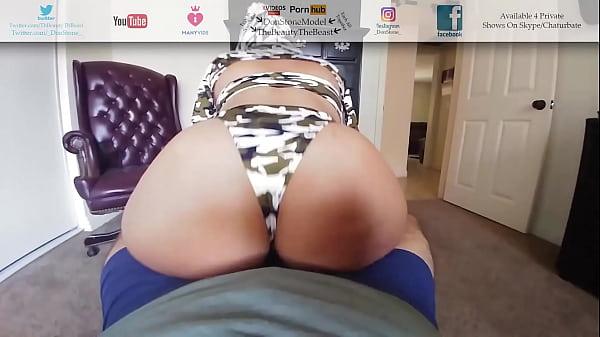 Military Big Booty Latina Reverse Cowgirl's My Cock Las Vegas Booty POV Thumb