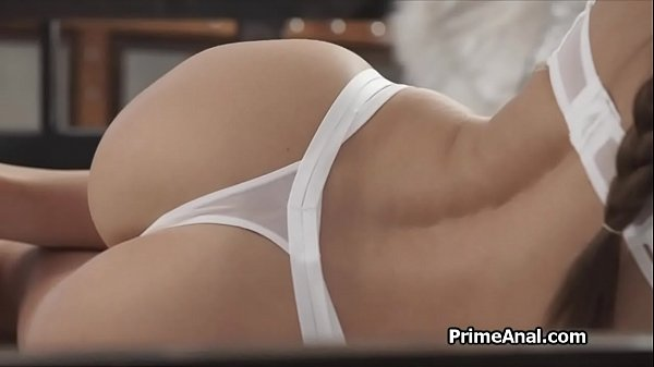 Perfect thong ass licked out after blowjob