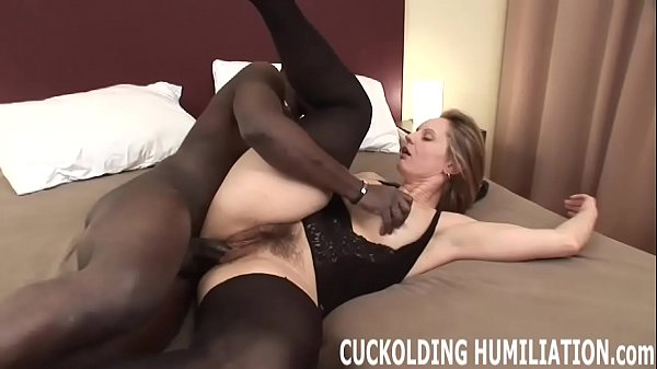 I will choke on his big black cock in front of you