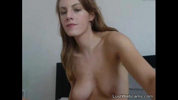 Busty cam girl masturbates with glass dildo Thumb
